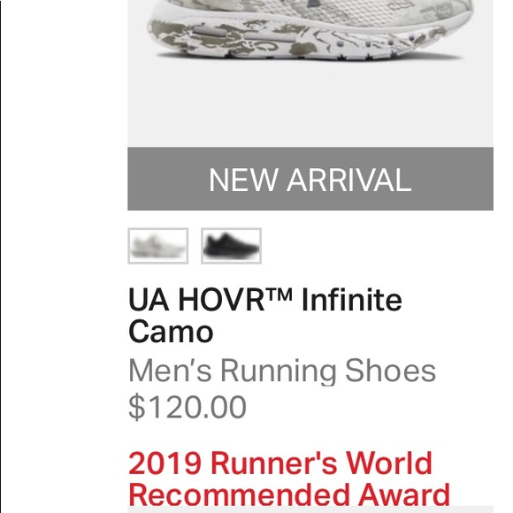 Under Armour Mens HOVR Infinite Camo Running Shoes Trainers Sneakers Black
